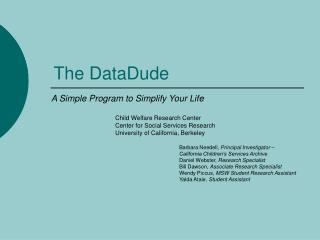 The DataDude