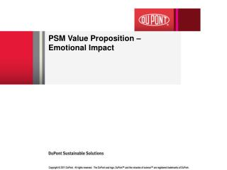 PSM Value Proposition – Emotional Impact