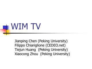 WIM TV