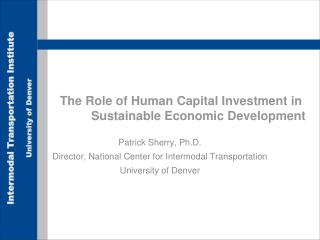 The Role of Human Capital Investment in  Sustainable Economic Development