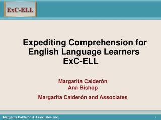 Expediting Comprehension for