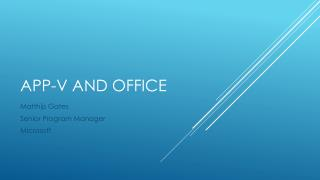 App-V and Office