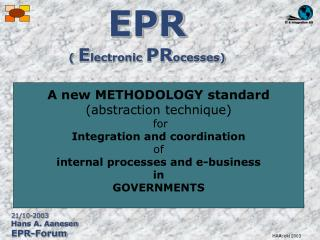 EPR (  E lectronic  PR ocesses)