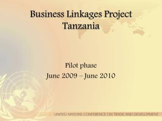 Business Linkages Project Tanzania