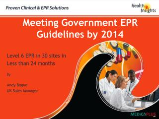 Meeting Government EPR Guidelines by 2014