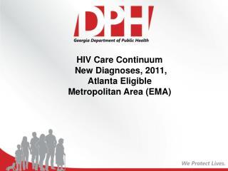 HIV Care Continuum  New Diagnoses, 2011, Atlanta Eligible Metropolitan Area (EMA)