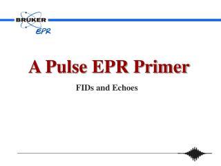 A Pulse EPR Primer