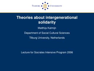 Theories about intergenerational solidarity