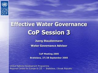 Effective Water Governance CoP Session 3
