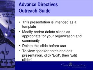 Advance Directives  Outreach Guide