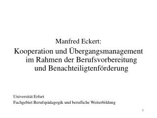 Manfred Eckert: