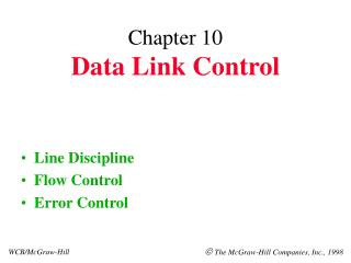 Chapter 10 Data Link Control