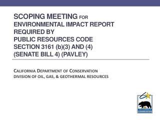California Department of Conservation DIVISION  OF OIL,  GAS,  & GEOTHERMAL RESOURCES