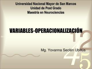 VARIABLES-OPERACIONALIZACIÓN
