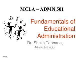 MCLA � ADMN 501