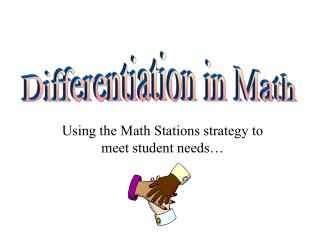 Using the Math Stations strategy to meet student needs…