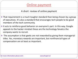 Payment can be done by payment gateway