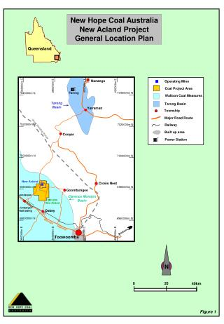 New Hope Coal Australia New Acland Project General Location Plan