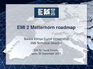 EMI 2 Matterhorn roadmap