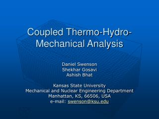 Coupled Thermo-Hydro-Mechanical Analysis