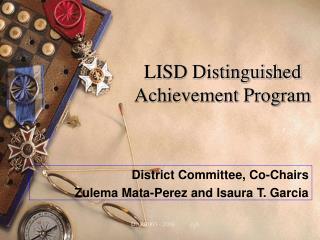 LISD Distinguished Achievement Program