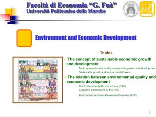 Environment and Economic Development