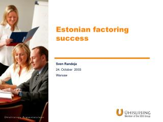 Estonian factoring success