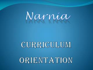 Curriculum Orientation