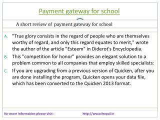 The free sites of payment gateway for school