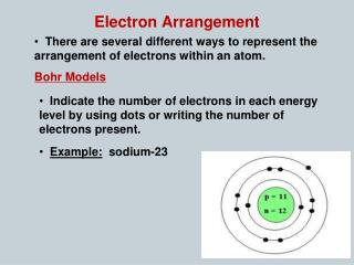 Electron Arrangement