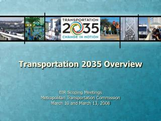 Transportation 2035 Overview
