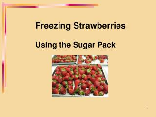 Freezing Strawberries  Using the Sugar Pack