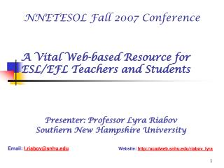 A Vital Web-based Resource for ESL/EFL Teachers and Students