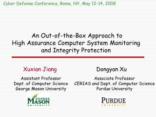 An Out-of-the-Box Approach to  High Assurance Computer System Monitoring and Integrity Protection