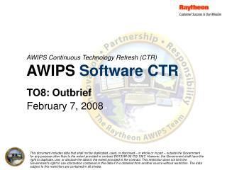 AWIPS Continuous Technology Refresh (CTR) AWIPS  Software CTR