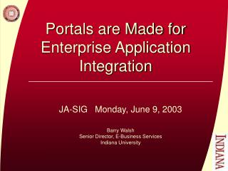 Portals are Made for Enterprise Application Integration