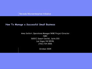 How To Manage a Successful Small Business