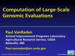 Computation of Large-Scale Genomic Evaluations