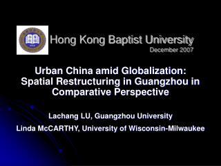 Hong Kong Baptist University December 2007