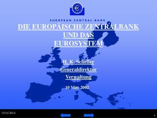 DIE EUROPÄISCHE ZENTRALBANK UND DAS EUROSYSTEM