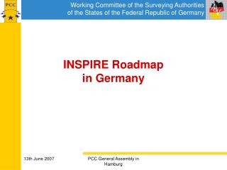 INSPIRE Roadmap  in Germany