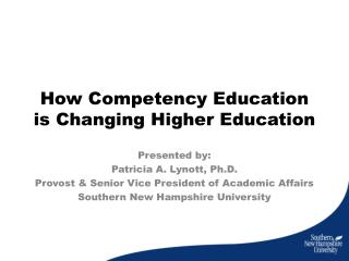 How Competency Education is Changing Higher Education