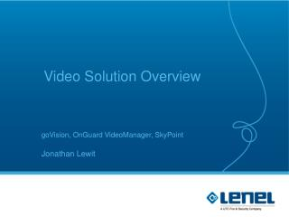 Video Solution Overview