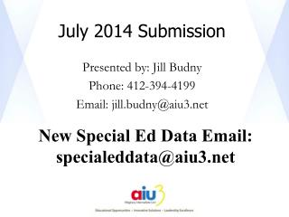 July 2014 Submission