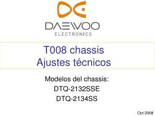 T008 chassis Ajustes técnicos