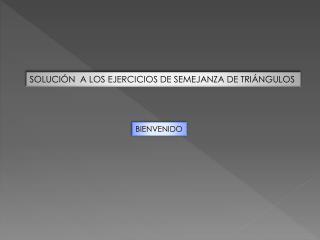 SOLUCIÓN  A LOS EJERCICIOS DE SEMEJANZA DE TRIÁNGULOS