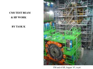 CMS TEST BEAM               & HF WORK  BY TASK K