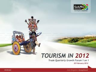 TOURISM IN 2012