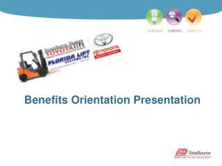 Benefits Orientation Presentation
