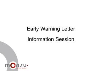 Early Warning Letter Information Session